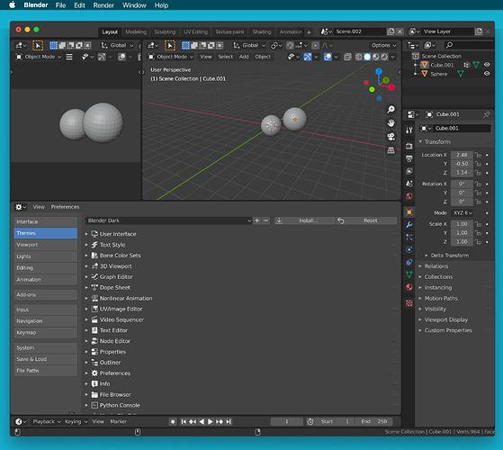 Mockup - dark interface window