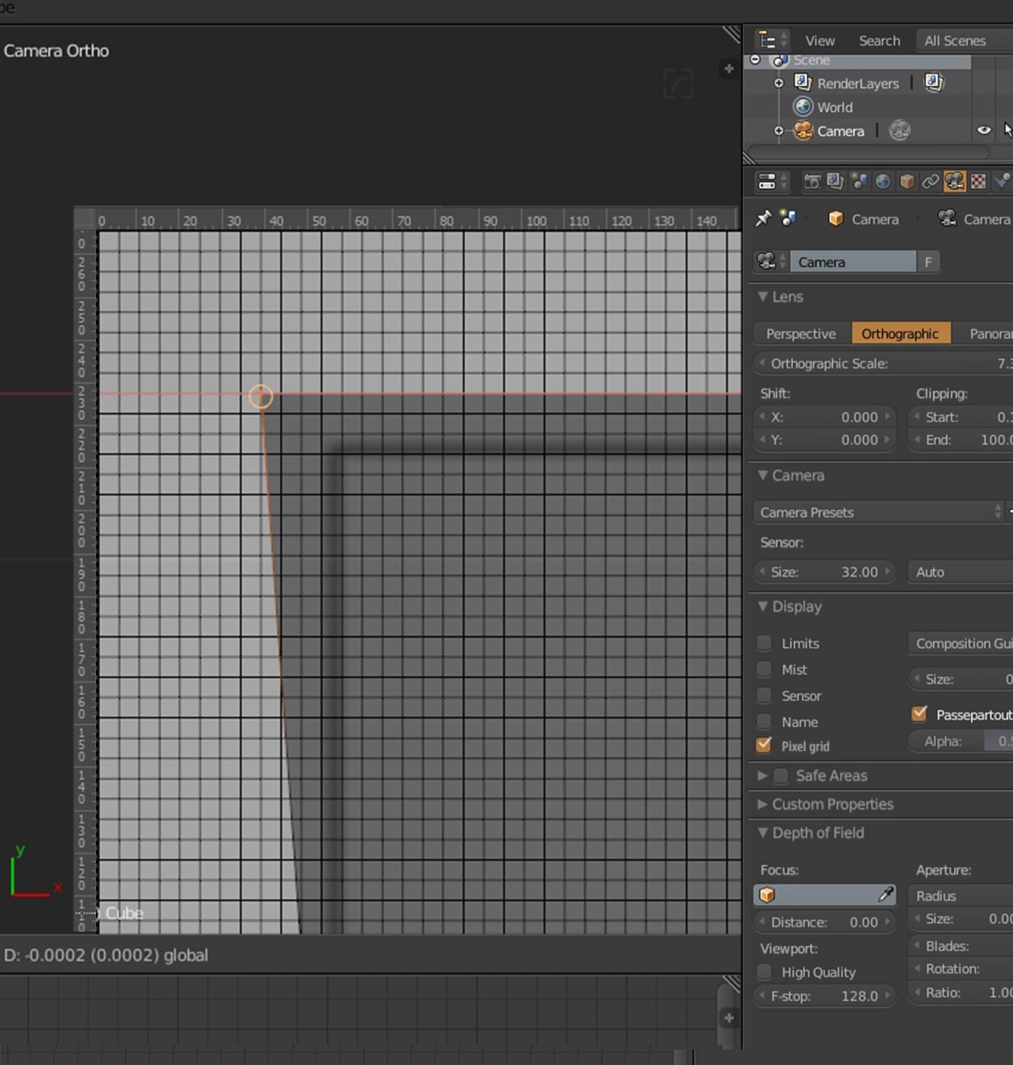 Pixel grid from camera view - User Feedback - Blender