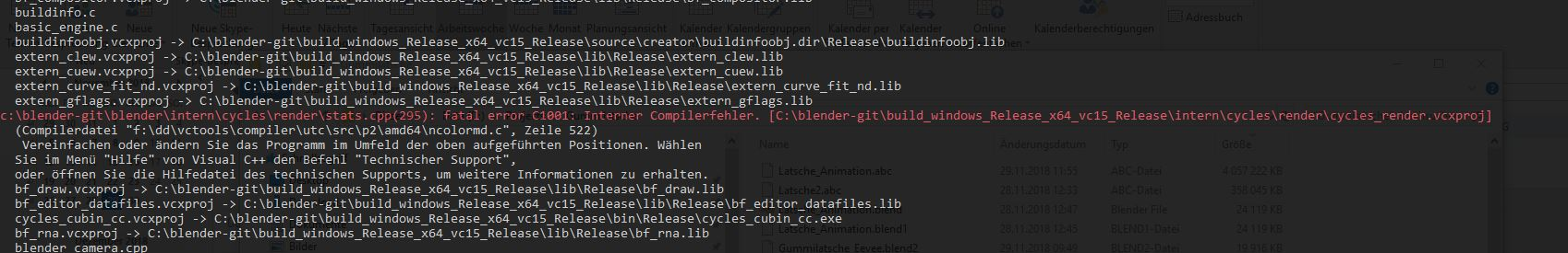 Compiling on Windows 10 fails in cycles_render vcxproj - Building