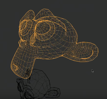 Wireframe fade effect