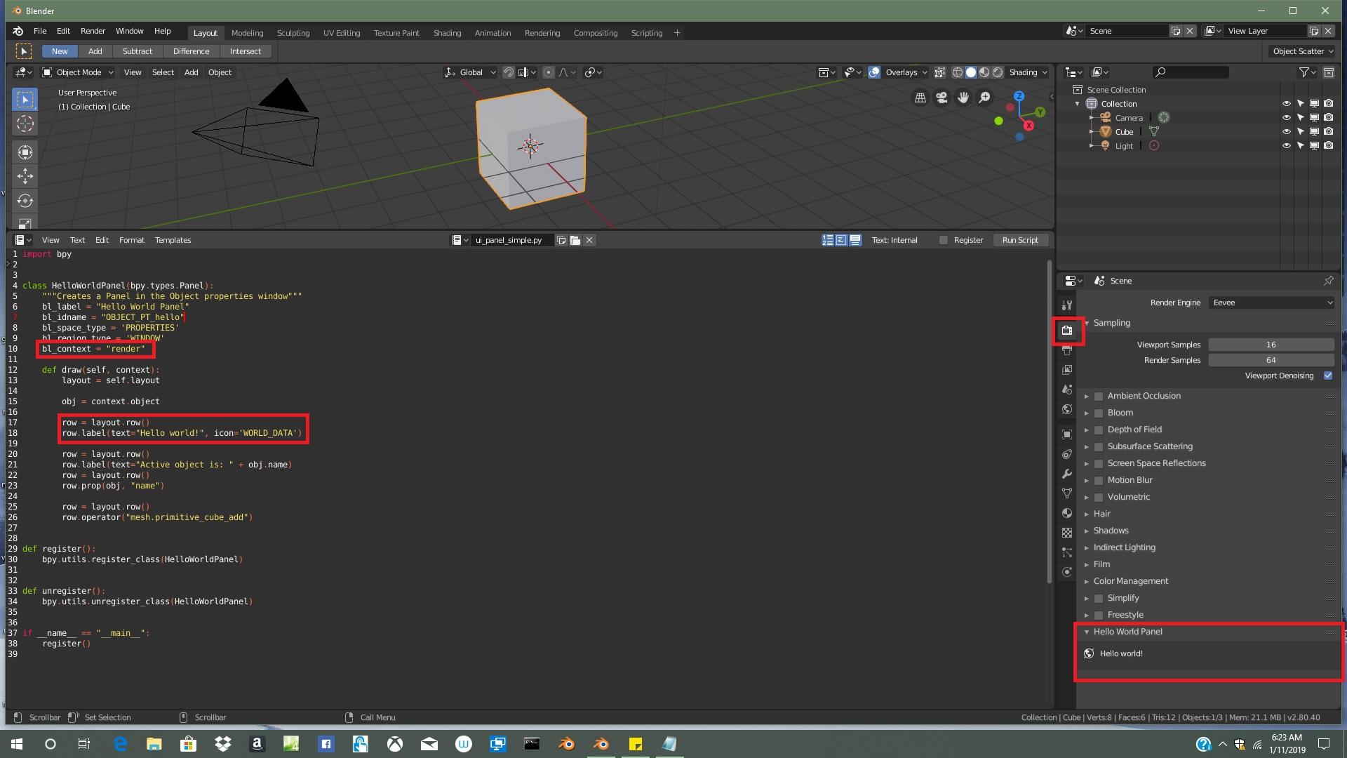 Blender 2 8 - Panel Location - Python - Blender Developer Talk