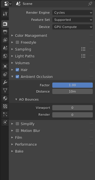 Cycles Ambient Occlusion Settings Are Still Present In World Instead Of Render Settings Cycles Development Blender Developer Talk